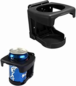 Yosoo Car Cup Holder, Car Vehicle Truck Hard Plastic Folding Beverage Drink Bottle Can Stand Mount for Water Cup, Coffe Tumbler, Drink Bottle, Mug and Soda Can(Black)