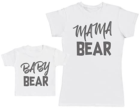Baby Bear   Mama Bear - Matching Mother Baby Gift Set - Womens T Shirt   746eeafd61