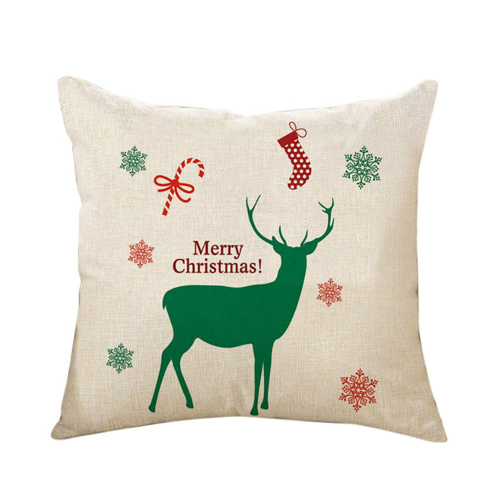 Amazon.com: ❤️Jonerytime❤️ Merry Christmas Cushion Cover ...