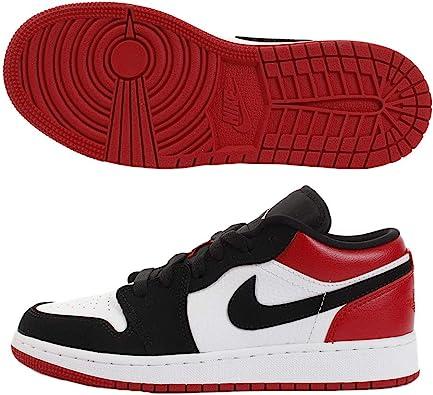 Amazon Com Jordan 1 Low White Black Gym Red Gs 7 M Us Big Kid