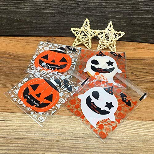 Gift Bags & Wrapping Supplies - 100pcs Plastic Clear Diy Candy Cookies Bag Halloween Pumpkin Ghost Gifts Bags Party Craft Tb - Handheld T Wrapping Halloween Winter Gift Radio Meizu Ball Full Hu -