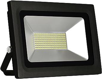Solla® Foco proyector LED 60W para exteriores, blanco diurno 6000K ...