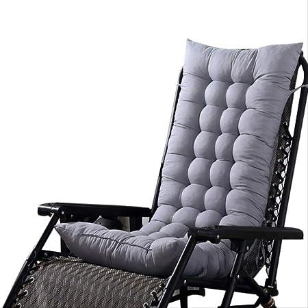 AINIYUE Par Cojín para sillón, Cojín de Tumbona para jardín con Patio Exterior, Asiento Acolchado Grueso, Funda de Silla reclinable para Cama El 125x48cm Gris: Amazon.es: Hogar