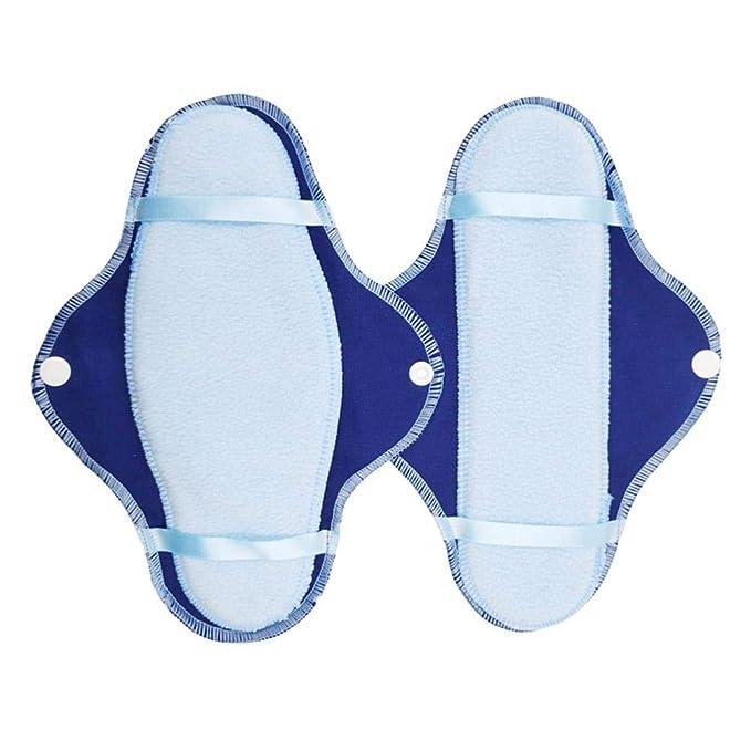 nalysevt Servilletas sanitarias de 5 Piezas Almohadillas Lavables Toalla Menstrual 1 Mini Bolsillo portátil Capa Absorbente Reutilizable de carbón de bambú ...