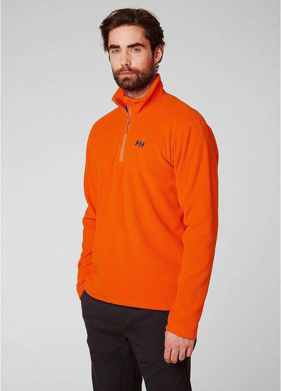 Helly Hansen Herren Daybreaker 1/2 Zip Fleecejacke Herren Fleecejacke Orange (226 Bright Orange)