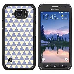 Dragon Case - FOR Samsung Galaxy S6 active/G870A/G890A (Not Fit S6) - polygon pattern clean blue beige - Caja protectora de pl??stico duro de la cubierta Dise?¡Ào Slim Fit