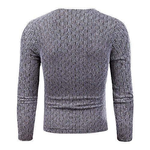 Hiver Fin Col Et Saoye Hommes Chaud Pull Tricoté V Fit Jumper Avec Grau Tops Mode Roulé Vêtements 0PIqxgIOw