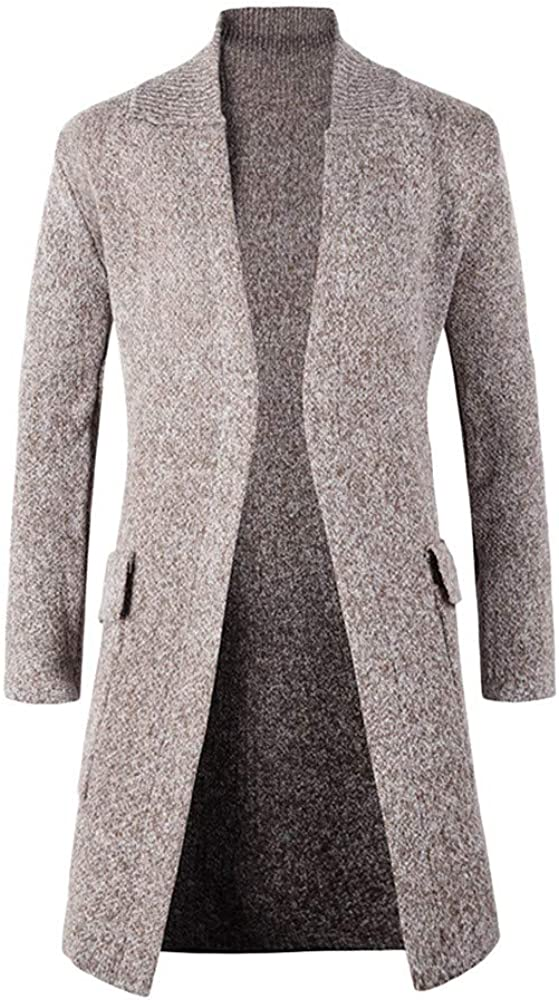 YKARITIANNA Men Solid Comfy Outdoors Tops Slim Fit Long Solid Long Sleeve Jersey Knit Cardigan Coat Top Spring Clothes