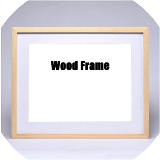Wooden Frame A4 A3 Simple Picture Poster 8x10 Photo Walnut Modern Wall Frames