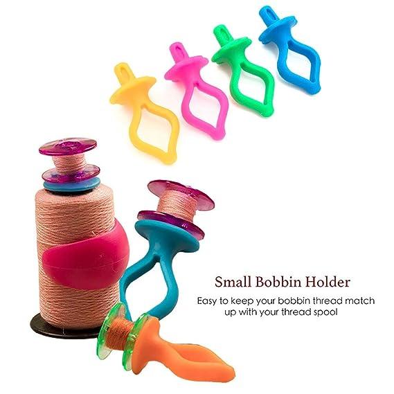 abrazaderas de bobinam bobinas de hilo para mantener tus hilos de bobina a juego con tus bobinas de hilo Fortspang Juego de 48 piezas de accesorios de costura para bobinas de hilo de coser