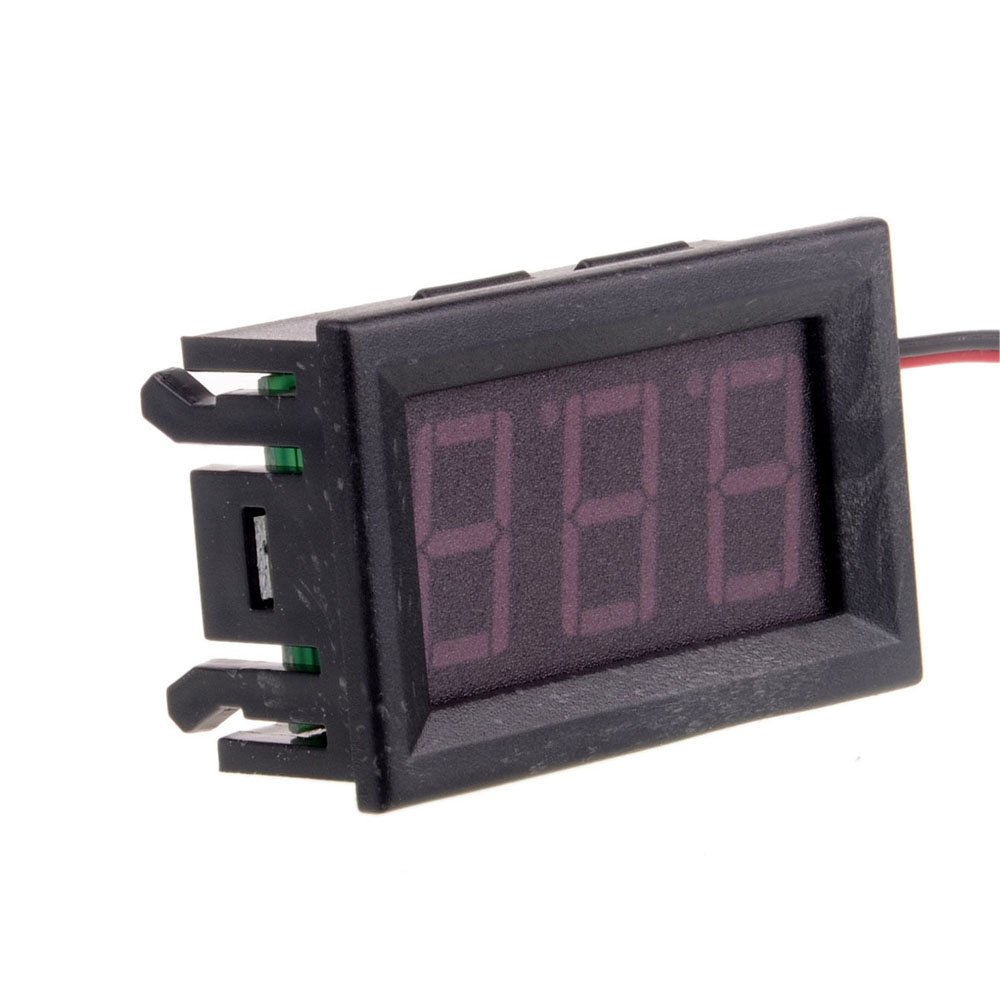 Solu 2 Wire 0.56 'LED Mini Digital Voltmeter Ac 60-500v blue LED Digital Voltmeter Voltage Panel Meter// blue AC 60-500V LED Digital Voltmeter AC 220V/230V/110V Voltage Panel Meters