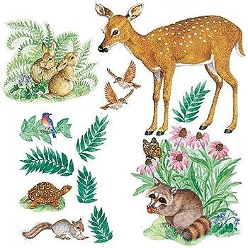 Wallies 15204 Woodland Animals Wallpaper Mural 2 Sheet