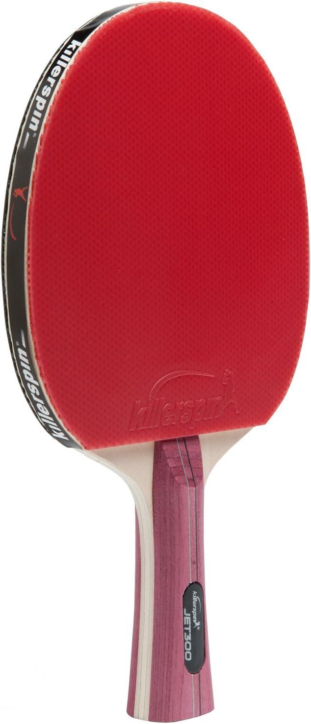 Killerspin JET300 Pala de Tenis de Mesa, Unisex-Adult, Rojo, One Size
