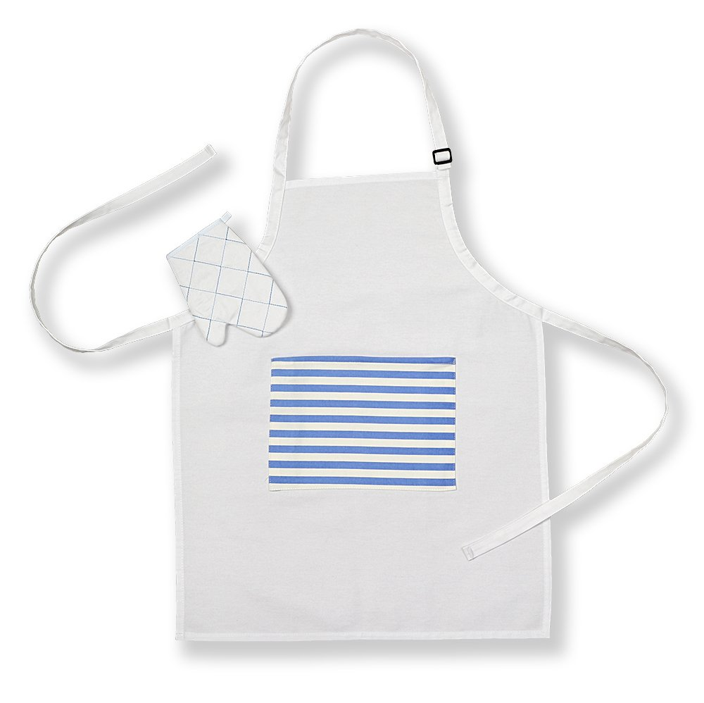 White gloves apron cleaning services - Amazon Com Kids Apron And Oven Glove Set White With Pocket Toys Games