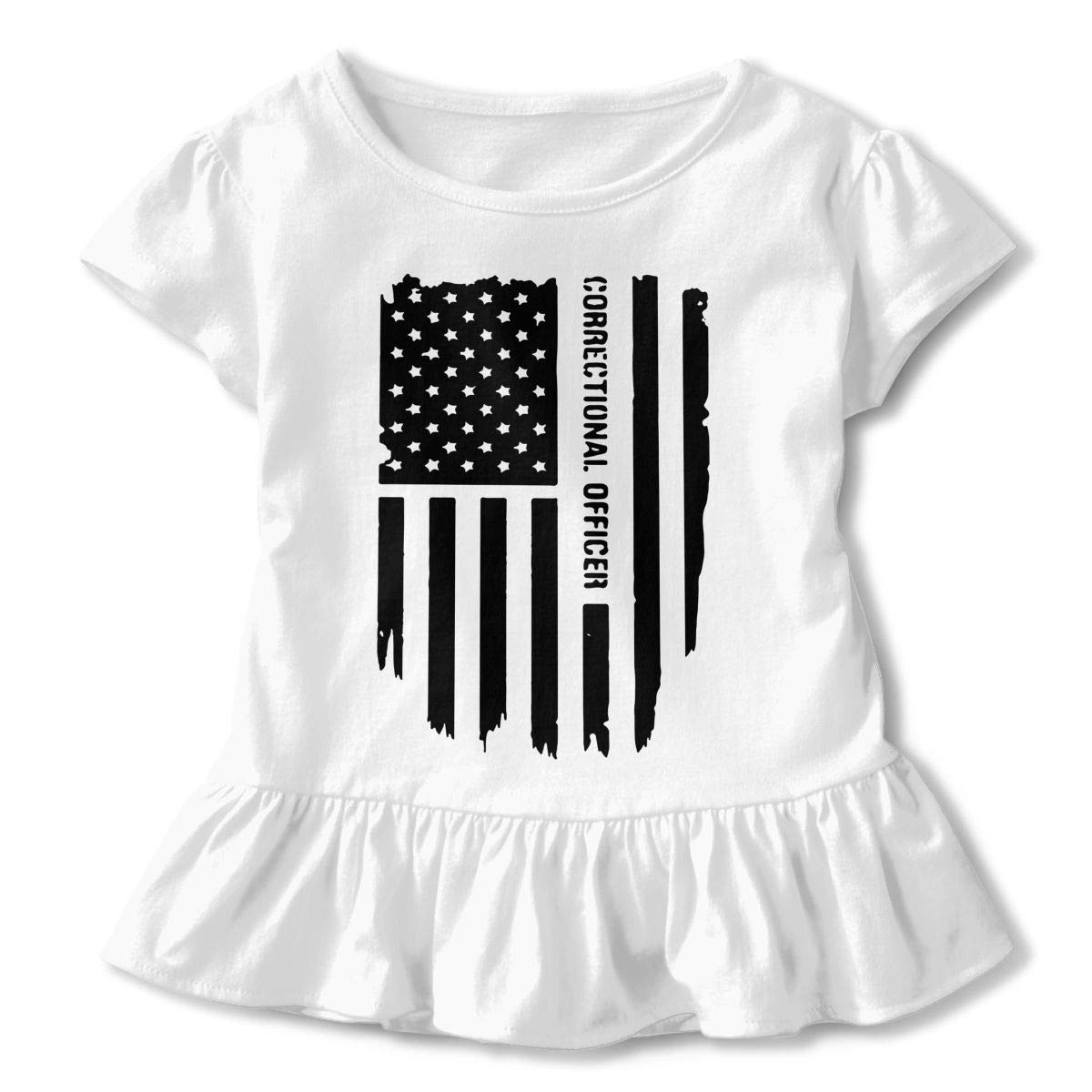 8301c5a2 Amazon.com: SC_VD08 Thin Silver Line Correctional Officer Kid Crew Neck  Shirt Clothing: Clothing