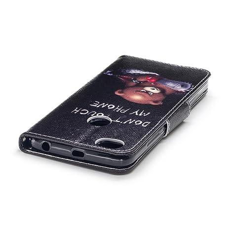 Funda Xiaomi Redmi Note 5A, MEETER Redmi Note 5A Carcasa Cuero Flip Cover Cuero PU Case Cartera con Ranuras para Tarjetas Incorporadas, Stand Función y ...