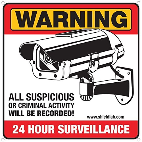 """[Camera Signs can Prevent Theft, Vandalism and Loitering by Displaying Video Camera Surveillance Signs. """"Warning All Suspicious or Criminal Activity Will be Recorded!""""] (Prevent Signs)"""