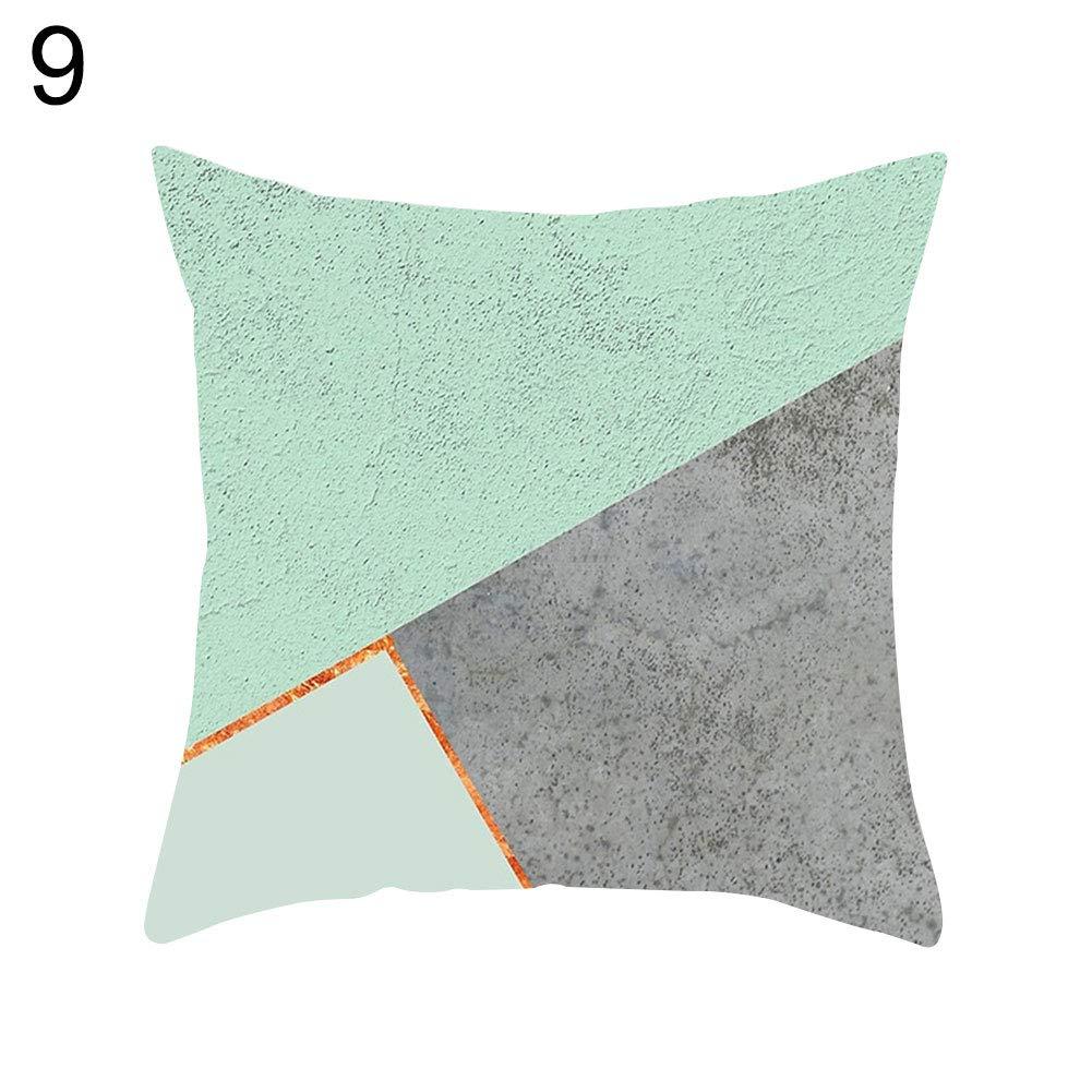 yongqxxkj Relax Serie Verde Menta Funda de Almohada sof/á Cintura Throw Funda de coj/ín Home Office Decor 1# 9# 1#