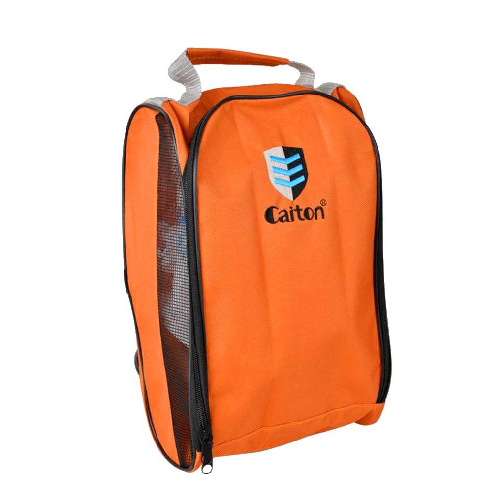 monkeyjackポータブルゴルフスポーツ靴バッグ旅行軽量ケーストートバッグ B074MBFY6M オレンジ オレンジ