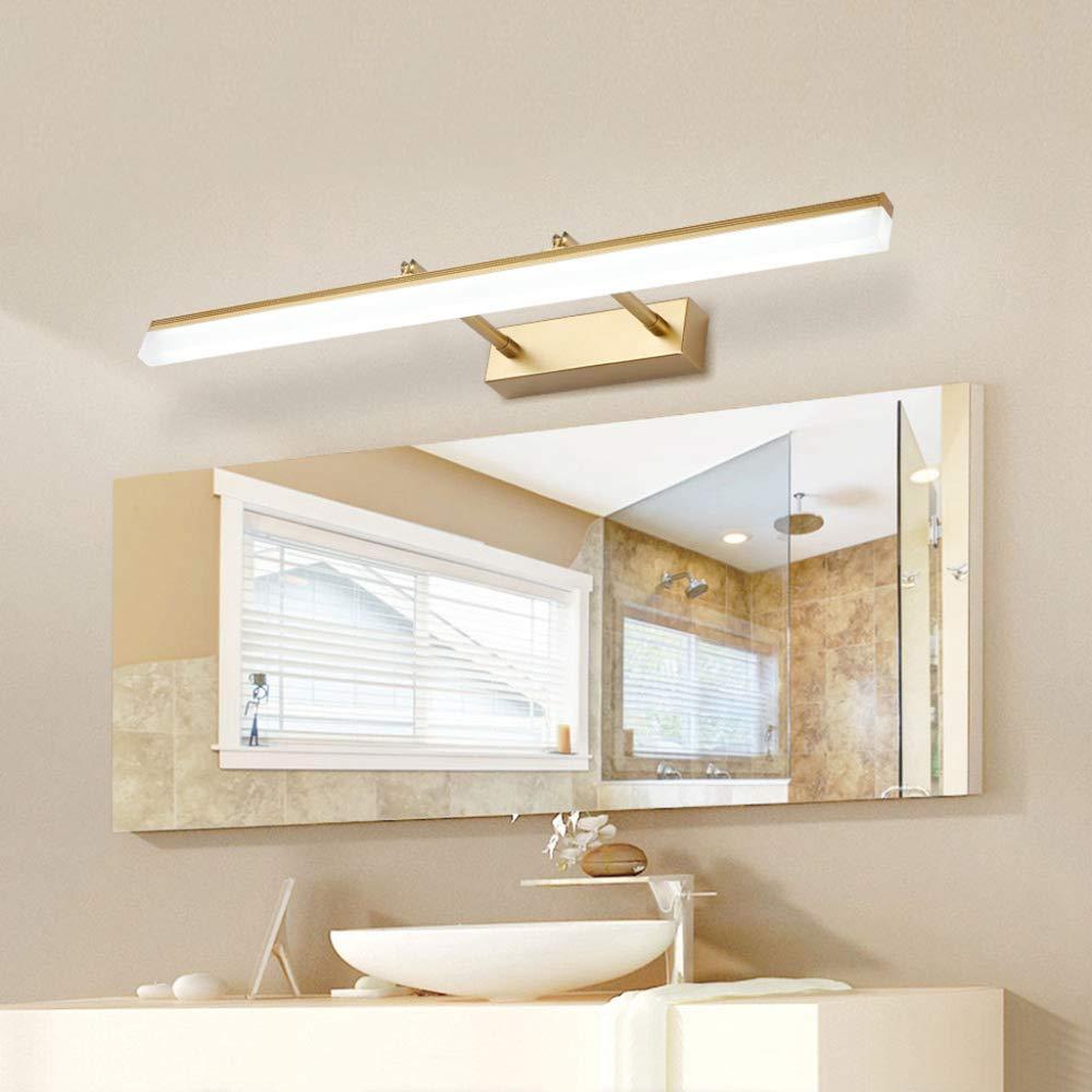 A Weißes Licht 50 cm (12 W) Weiduoli Schmink leuchte Badezimmer LED Wand Lampe Lichter mit Einstellbare Strahl Winkel Spiegel Wandleuchter Lampen LED Spiegelleuchte