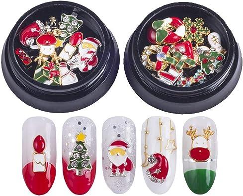 Amazoncom Decoracion Para Uñas De Navidad 3d Brillo