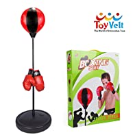 ToyVelt Punching Bag For Kids Boxing Set Includes Kids Boxing Gloves And punching...