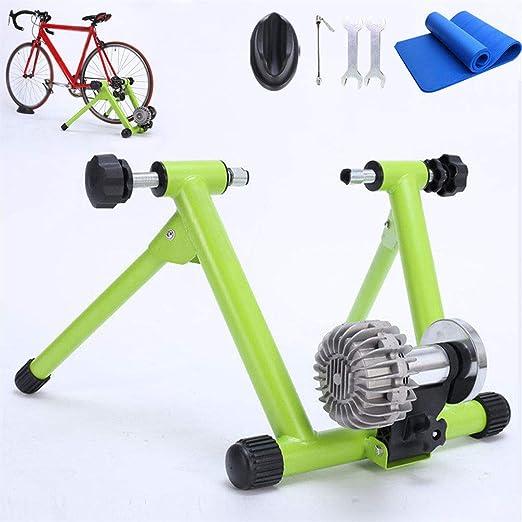 SONNIGPLUS Entrenamiento Bicicleta Rodillo, Rodillo de Entrenamiento de Fitness de Bicicleta Portátil Plegable, Bicicleta/Bicicleta de Carretera/ Bicicleta de montaña, Ultra silencioso,Green: Amazon.es: Jardín