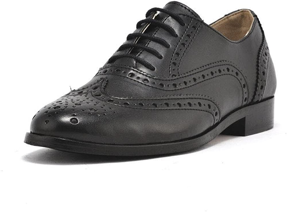 Vegan Shoes Womens Oxford Brogues Black