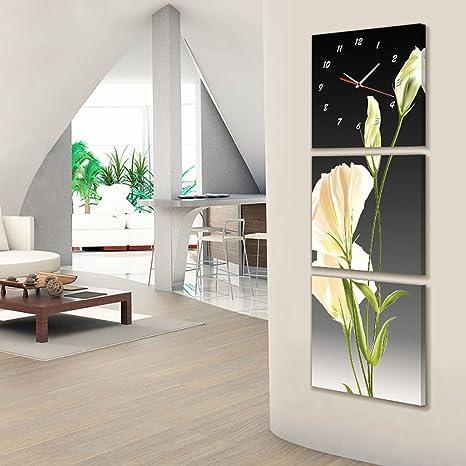Max Home@ Cuarto de baño de la sala de estar Triples soportes Relojes pintados y pinturas decorativas - Espesor 25 mm (Tamaño : 50*50cm) : Amazon.es: Hogar