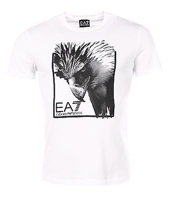 0a4e4163807 Armani EA7 homme - T-shirt manches courtes Blanc Armani EA7 3YPTE7 PJ78Z