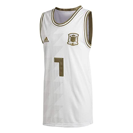 777b867bc59 Amazon.com   adidas 2018-2019 Spain Seasonal Special Tank Top (White ...