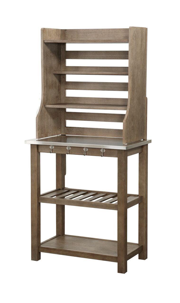 Boraam 12509 Wood & Stainless Steel Bakers Rack, One Size by Boraam (Image #4)