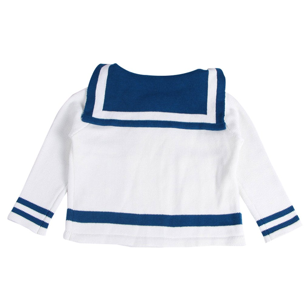 Unisex Baby Boys Girls Sailor Sweater Knit Cardigan Kids Cotton Double-Breasted Jacket Outwear 1-6t