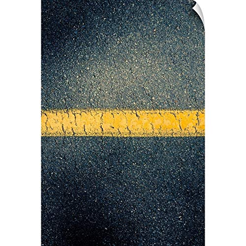 Canvas on Demand Wall Peel Wall Art Print Entitled High Angle View Stripe in Road 40