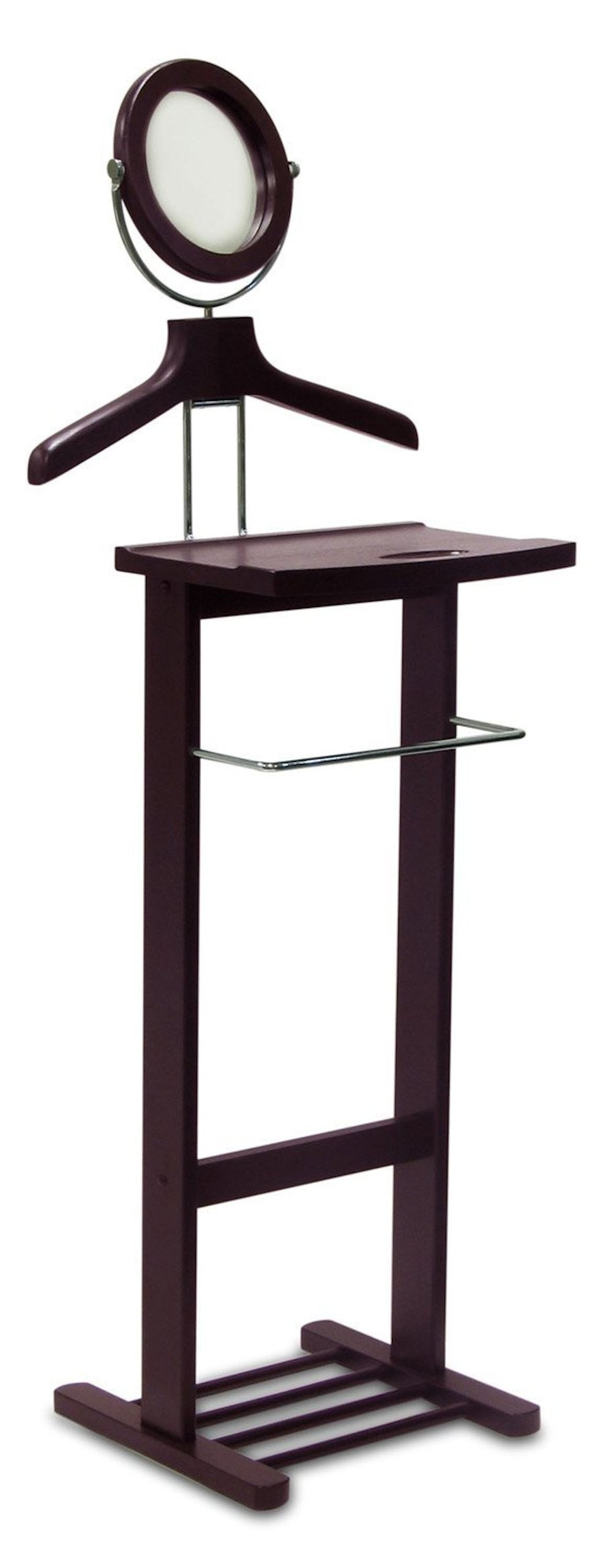 Legacy Decor Valet Stand with Mirror New Espresso Finish by Legacy Decor
