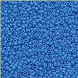 Toho Round Seed Beads 15/0 #43D 'Opaque Cornflower' 8g