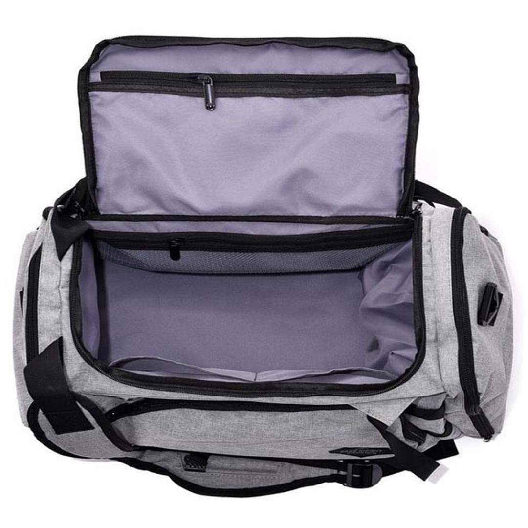 Canvas Mens Sports Bag For Fitness Travel Luggage Handbag Crossbody Training Large Capacity Outdoor Camping Bag Grey