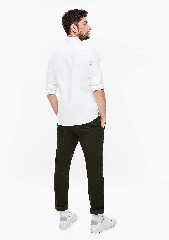 s.Oliver RED Label Herren Slim Baumwollhemd mit Webmuster