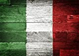 italian backdrop - Leowefowa Vinyl 7X5FT Italian Flag Backdrop Abstract Green White and Red Printed on Grunge Stripes Wood Board Photography Background Kids Adultls Photo Studio Props