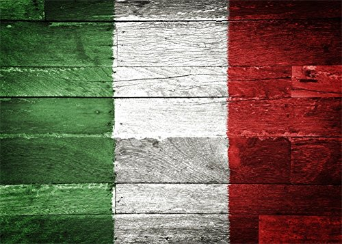 (Leowefowa Vinyl 7X5FT Italian Flag Backdrop Abstract Green White and Red Printed on Grunge Stripes Wood Board Photography Background Kids Adultls Photo Studio Props)