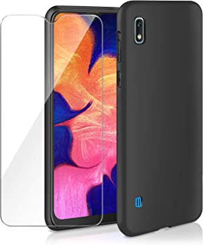 AROYI - Carcasa para Samsung Galaxy A10 + cristal blindado, funda ...