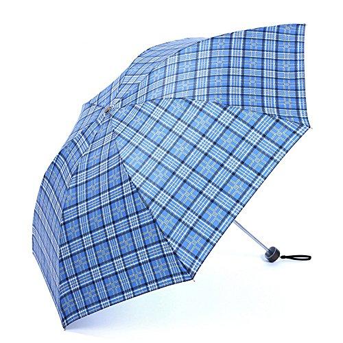 LybCvad Regenschirm Faltender Stahlmänner Damengitter Dauerhafter Regenschirmschirm des britischen Gitterregenschirmes sonniger spJu2ij