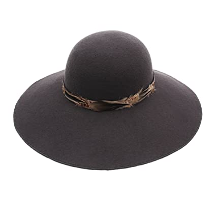 72769f12a8a Marzi Women s Garis Wool Felt Cloche Hat Wide Brim Size S Anthracite ...