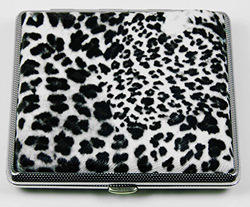 Top Rated Stylish RFID Blocking Double Sided King Cigarette Case Holder and Credit Card RFID Protective Security Wallet (Leopard)