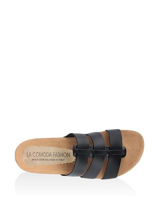 La Comoda Fashion Sandales pour Femme Noir Noir 39 Y5ai2C