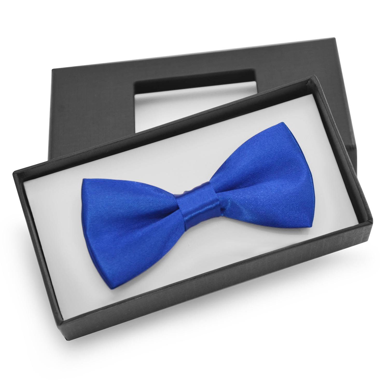 Brooben Boys Kids Bowtie Pre tied Banded Satin Adjustable Bow Tie BT1 Sapphire