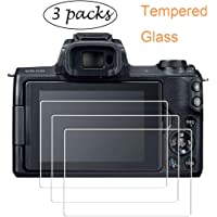 PCTC Screen Protector for Canon EOS M50 Canon EOS 200D M100 Tempered Glass Film Foils Anti-scrach Anti-Dust Anti-Fingerprint Waterproof Foils (3 Pack)