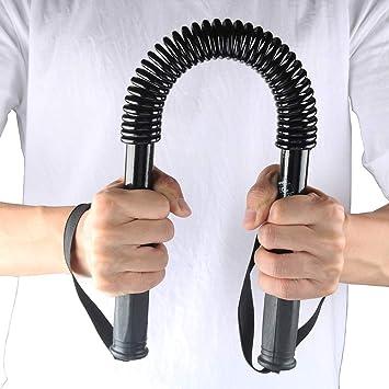 highmoor 20 kg práctico poder Twister Flexible Resistencia pecho hombro brazo varilla primavera ejercitador de muñeca de manos, barra de curl primavera ...