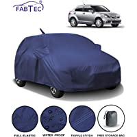 Fabtec Waterproof Car Body Cover for Maruti Swift Dzire (2012-2016) with Mirror & Antenna Pocket & Storage Bag (Full Sized, Triple Stitched, Fully Elastic) (Navy Blue)