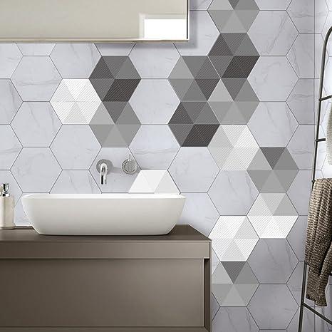 Winomo 10 Stucke Hexagon Fliesenaufkleber Mosaik Tapete Anti Ol